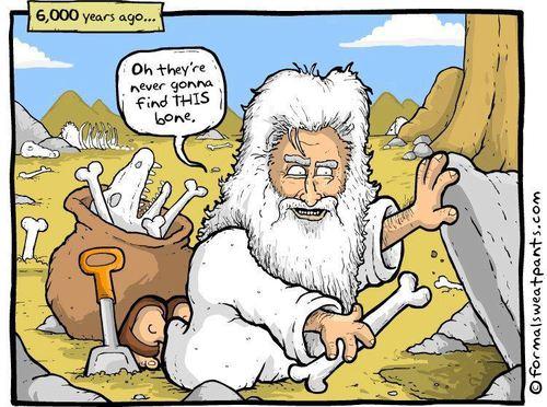 Dumnezeu ascunde Evolutionismul